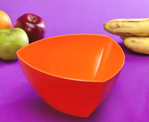 Thai Melamine Triangular Fruit And Salad Bowl