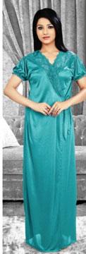 Nightwear-Fantastic Firozi Nightwear Set