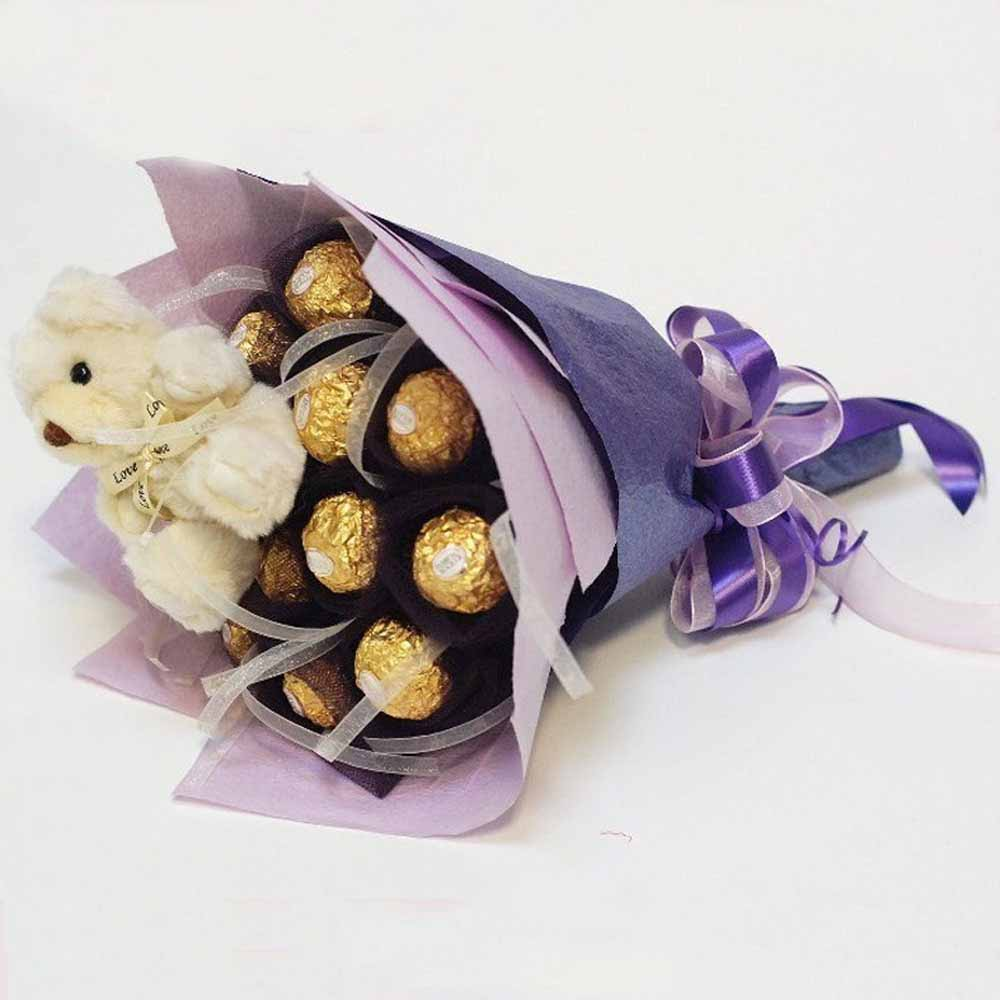 Blue Teddy Chocolate
