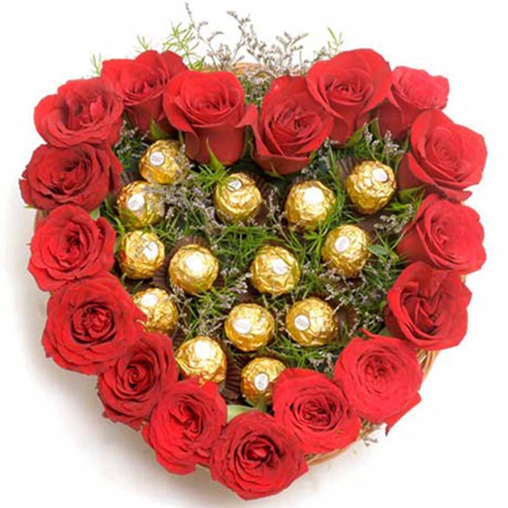 Heartshape Chocolate Bouquet