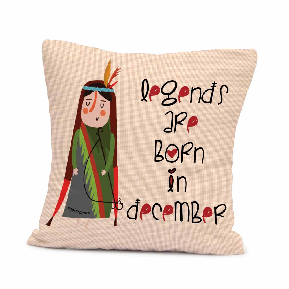 December Birthday Cushion