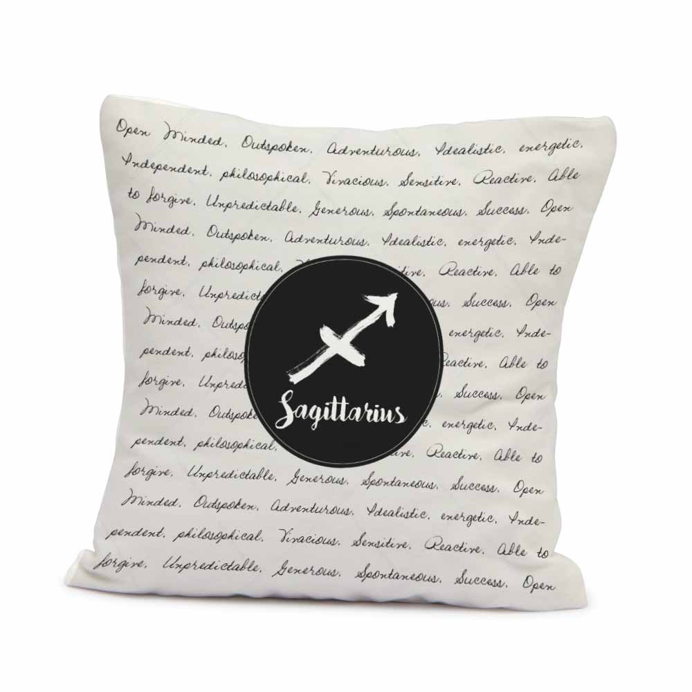 Pillow & Cushion Cover-Simple Sagittarius Cushion