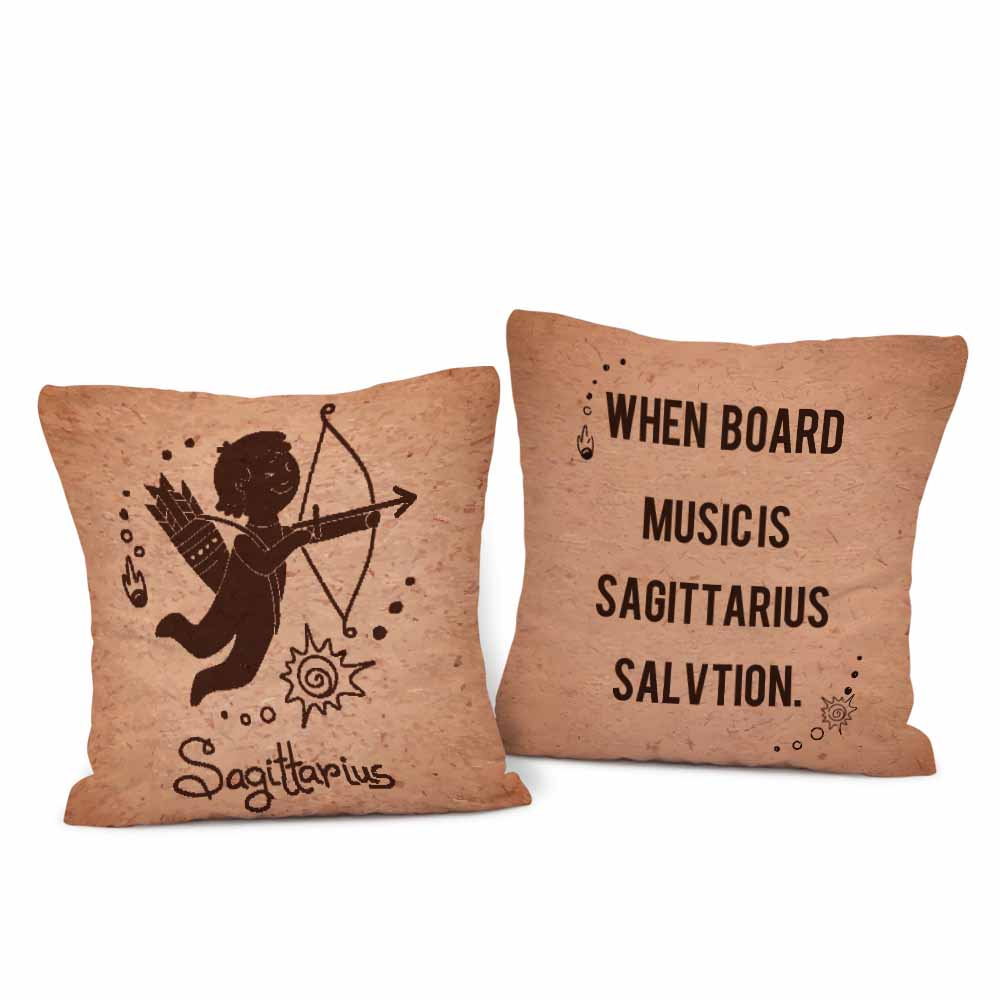 Pair of Classical Sagittarius Cushion