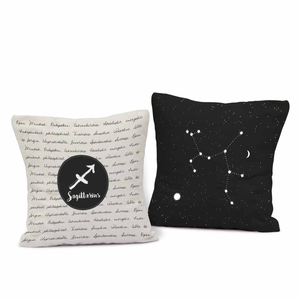 Sagittarius cushion Pair
