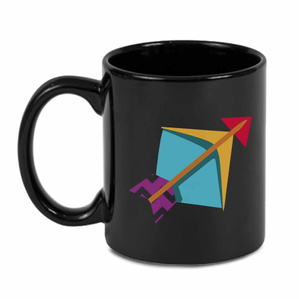 Sagittarius Black Coffee Mug