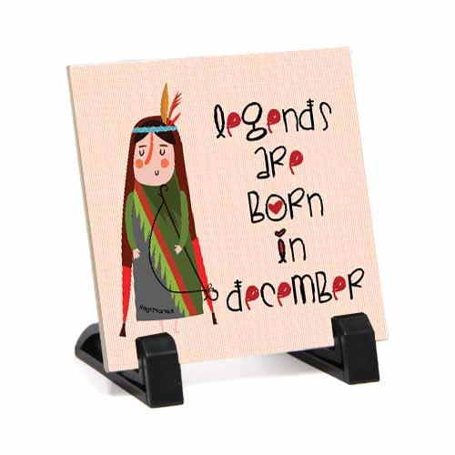 Home Decor-December Born Table Top for Her