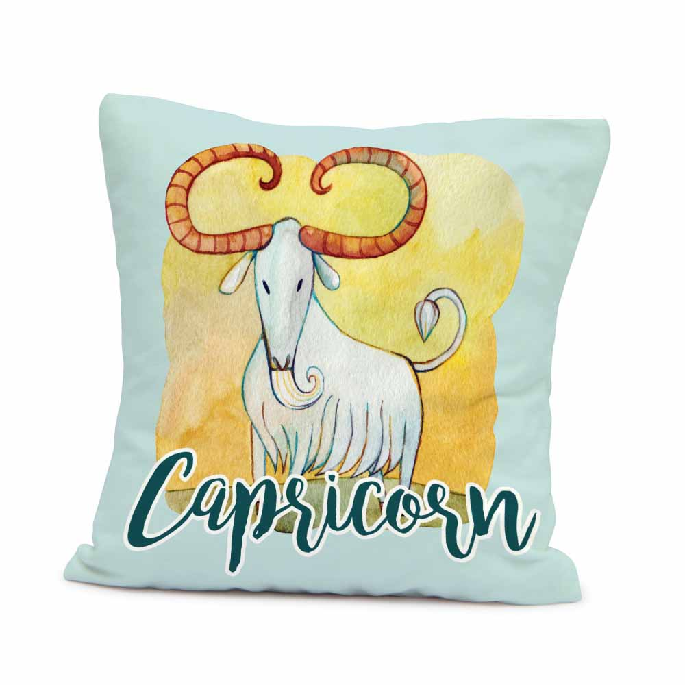 Home Decor-Capricorn cushion in blue
