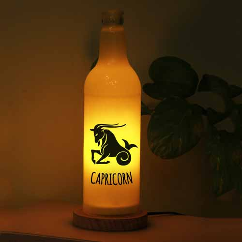Personalized Table lamp (Capricorn)
