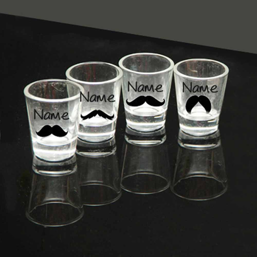Personalized Shot Glasses Set Of 4