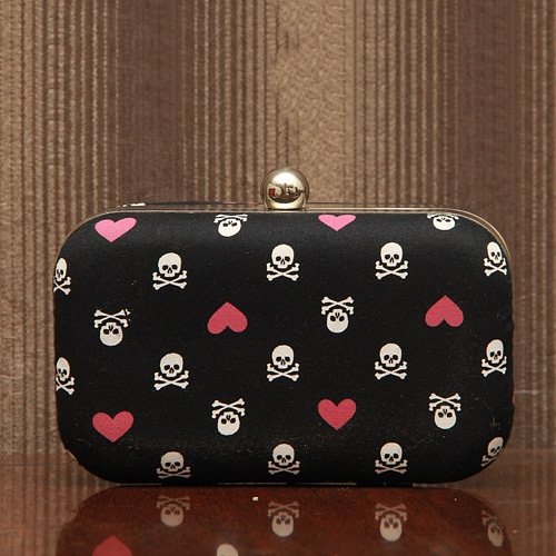 Love is Dangerous Printed Clutch