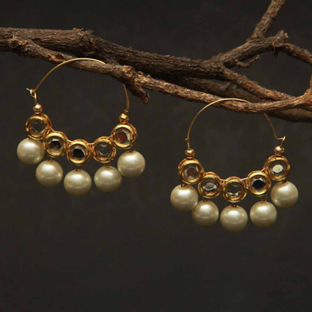 Designer Dangler Earrings (With Pearls)
