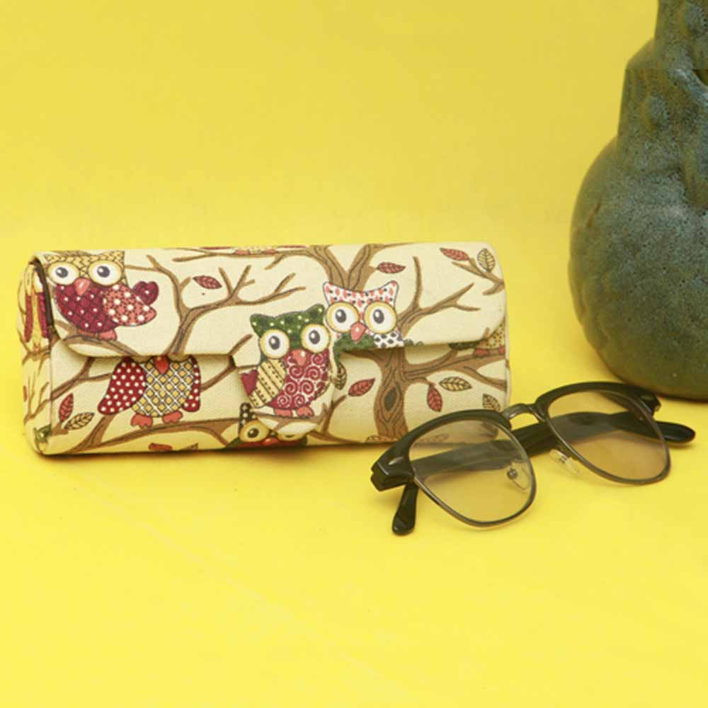 Handcrafted Sunglasses Case (Owl Print)