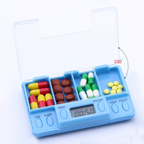 Pill Organizer and Reminder in Blue