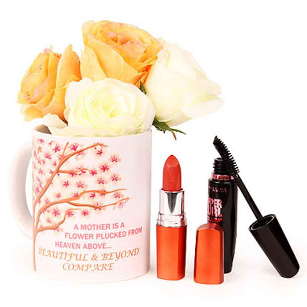 Beauty & Spa Hampers-Mothers Day Coffee N Cosmetics Hamper