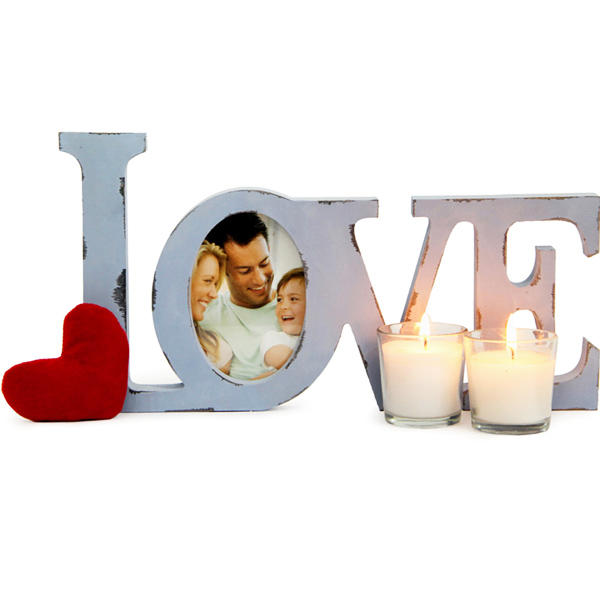 Love Photo Frame N Candles