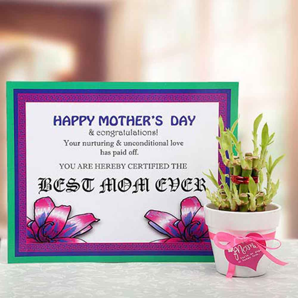 Mothers Day Certificate of Appreciation for your Mom