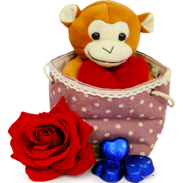 Monkey Teddy N Chocolates