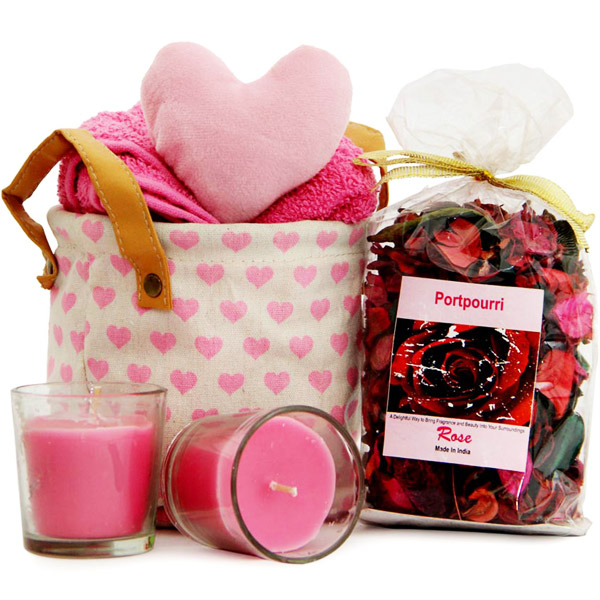 Heart Pouch N Candles
