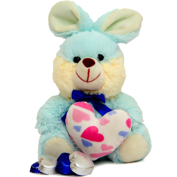Rabbit Teddy N soft toy heart
