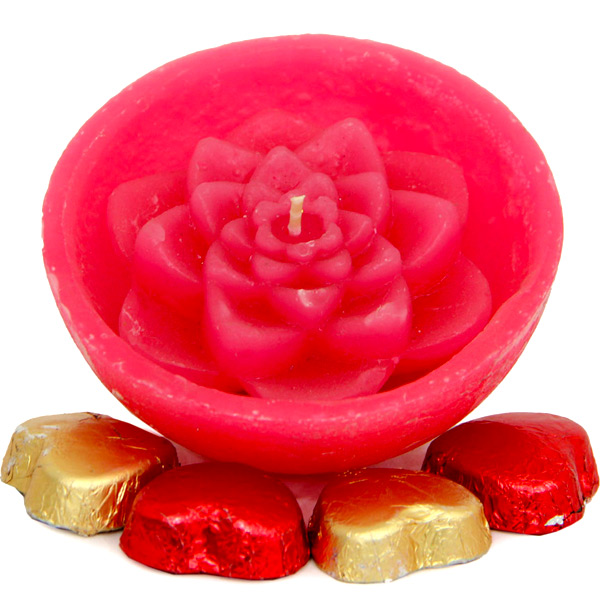 Flower Candles N Chocolates