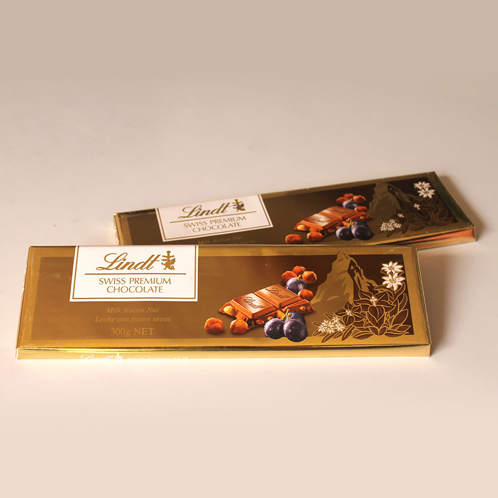 Lindt-Lindt Gold Tab Milk Raisin Nut