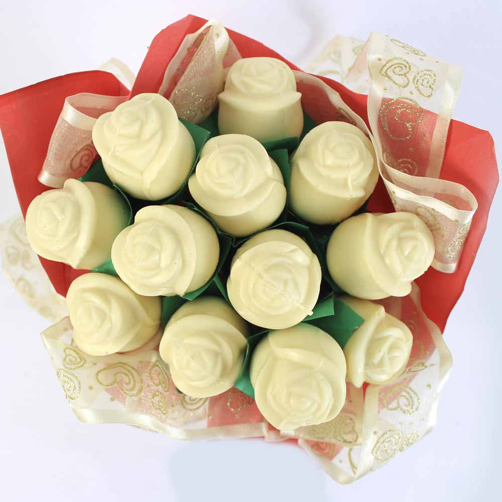 White chocolate roses