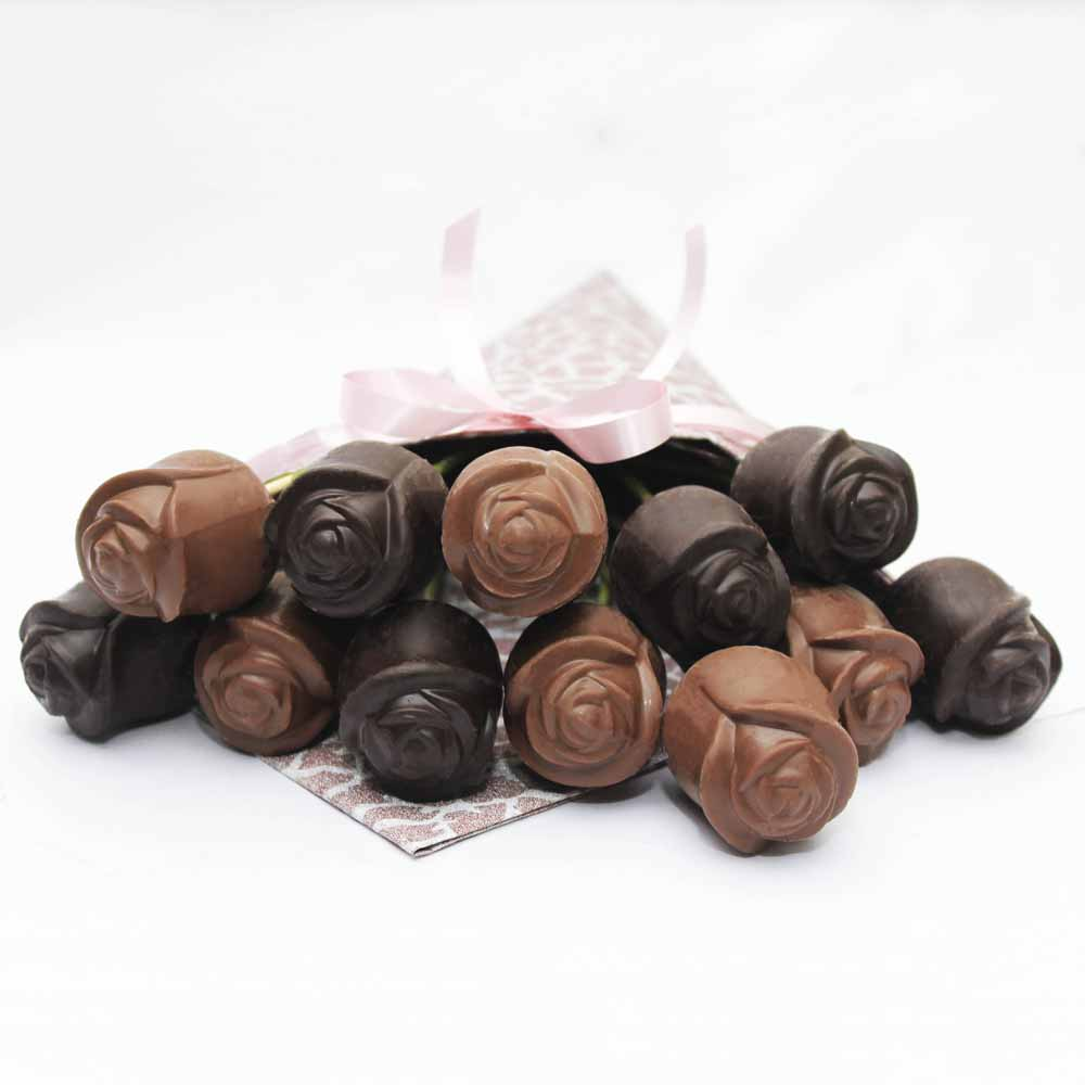 Dark and Milk chocolate roses