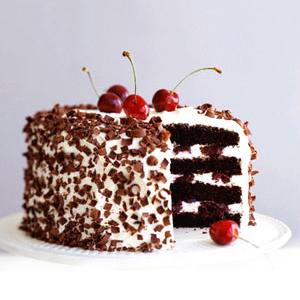 Eggless Black Forest Cake - Delhi Special