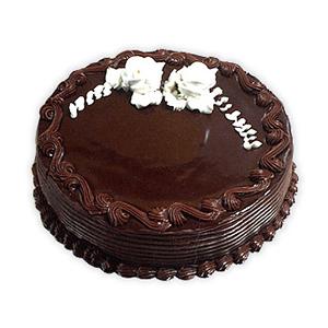 Eggless Truffle Chocolate Cake - Delhi Special