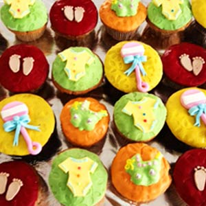 Baby Shower Cup Cakes - Set of 6 - Delhi Special