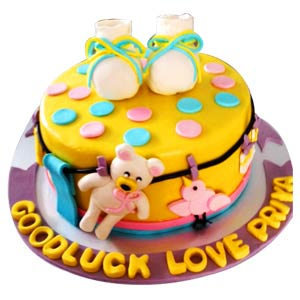 Booties n Teddies Delight Cake - Delhi Special