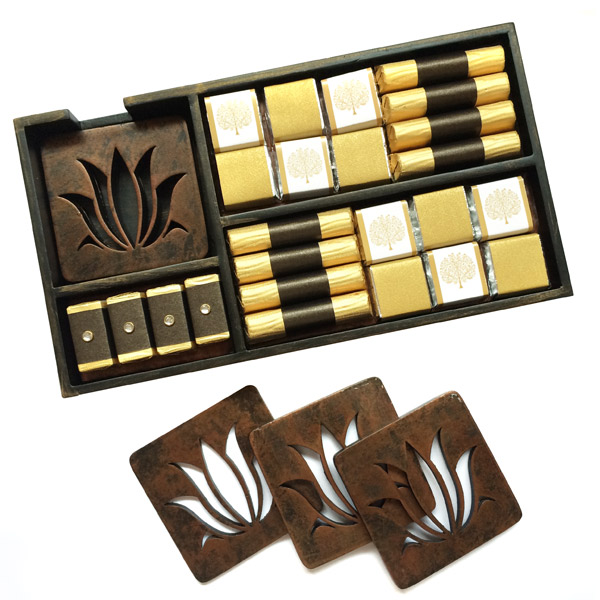 Lotus Coasters and Chocolate Platter