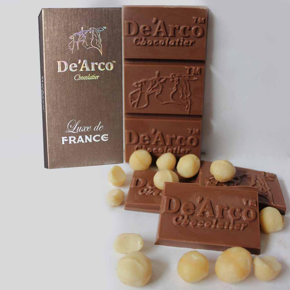 De'Arco Chocolatier 30% Cocoa Macadima Munch 80 g