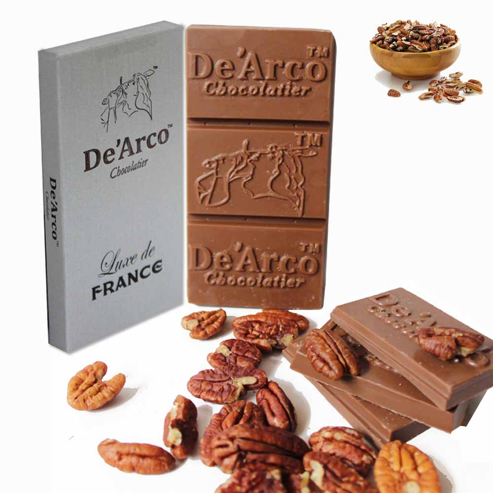 De'Arco Chocolatier 50% Cocoa Pecan Nut 80 g