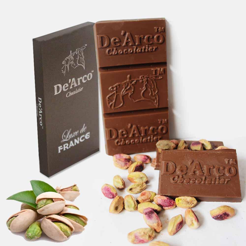 De'Arco Chocolatier 50% Cocoa Pistachios Treat 80 g