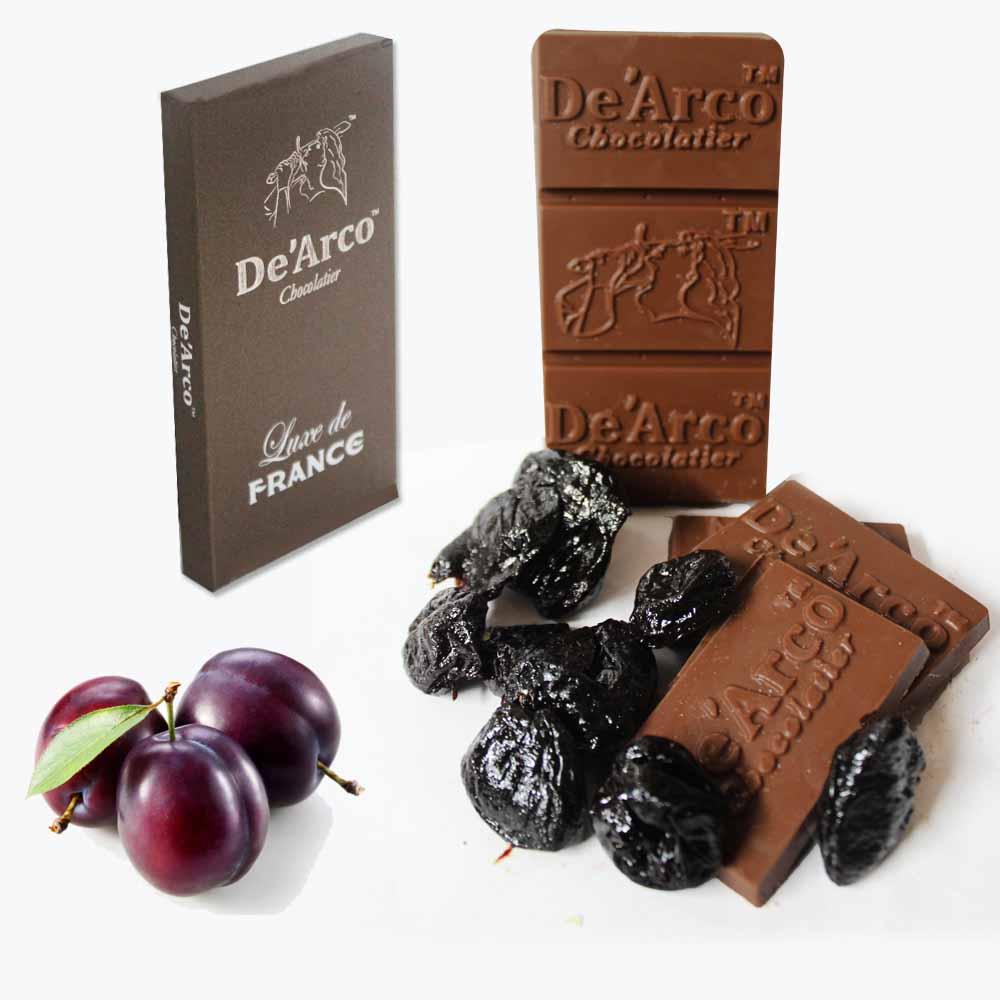 De'Arco Chocolatier 50% Cocoa Plumpy Prunes 80 g