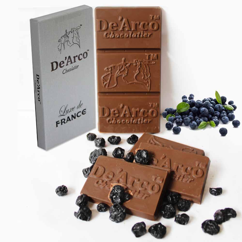 De'Arco Chocolatier 60% Cocoa Blueberry Surprise 80 g