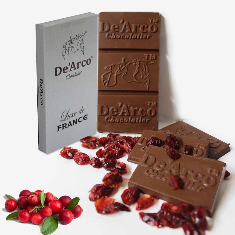 De'Arco Chocolatier 60% Cocoa Cranberries Feast 80 g