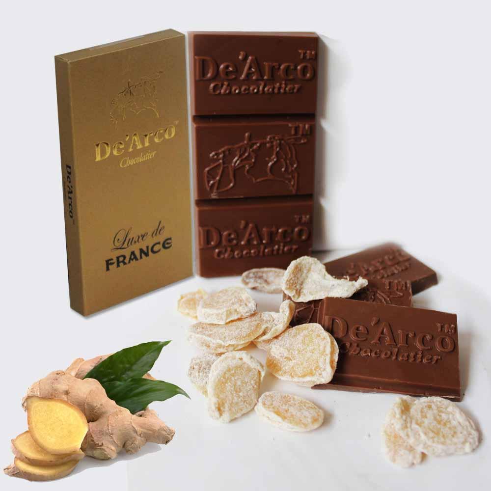 De'Arco Chocolatier 60% Cocoa Tarty Ginger 80 g