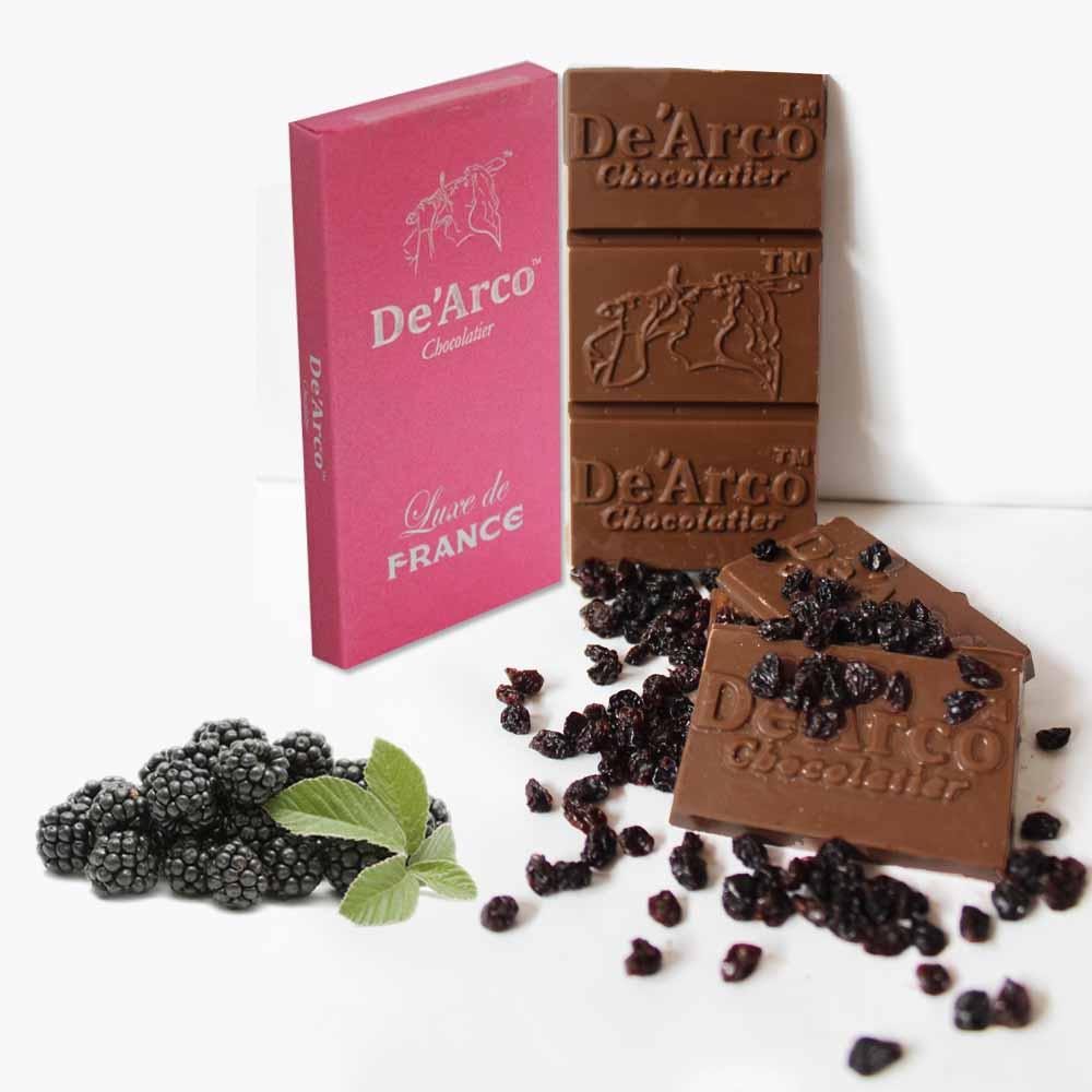 De'Arco Chocolatier 70% Cocoa Vivid Blackcurrent 80 g