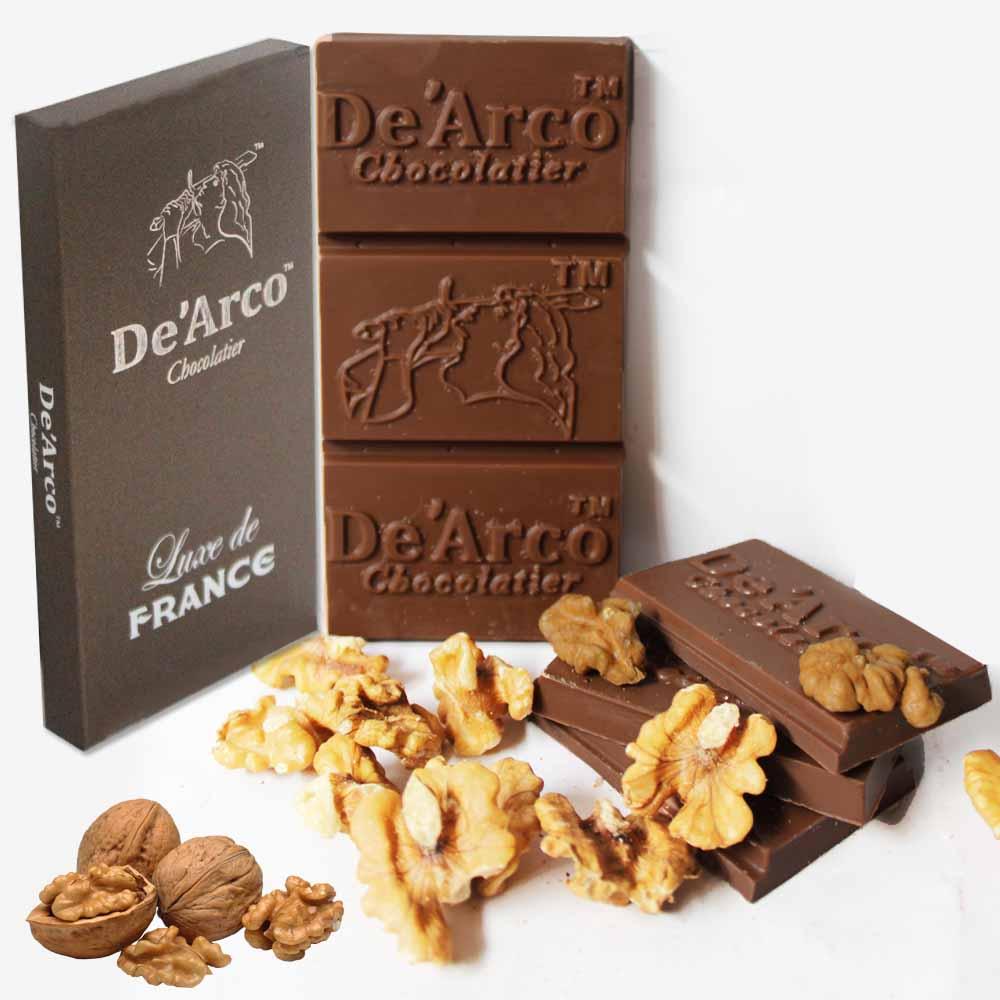 De'Arco Chocolatier 70% Cocoa Nutty Walnut 80 g