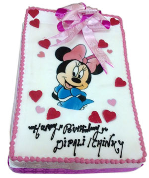 Minnie Mouse Theme Cake - Delhi & NCR Special