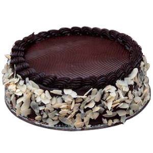 Chocolate Almond Cake - Pune Special