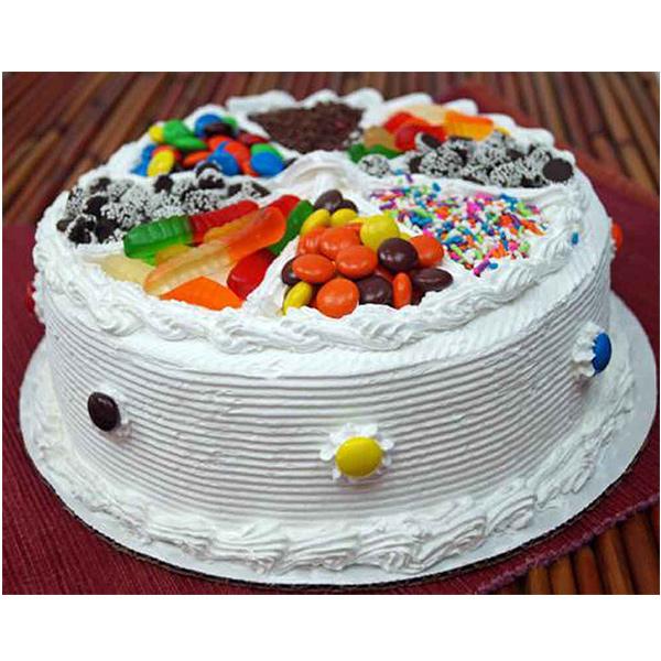 Mix Candy Vanilla Cake