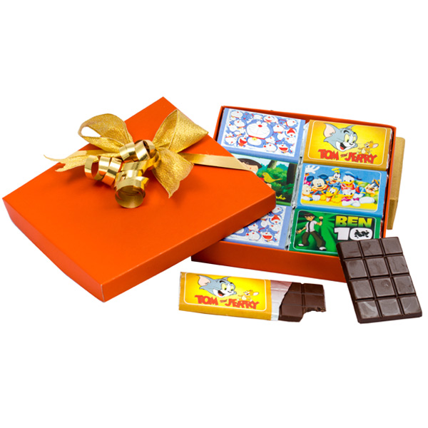 Velvet Fine Chocolates' Cartoon Chocolate Bar Box