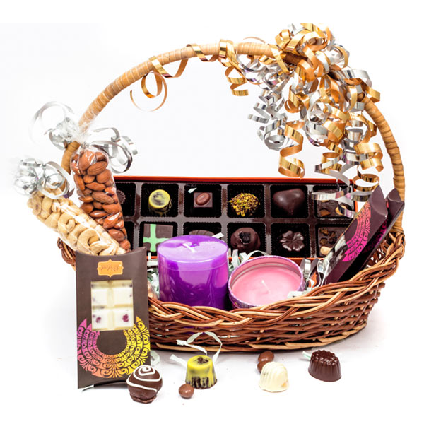 Velvet Fine Chocolates' Candle Hamper