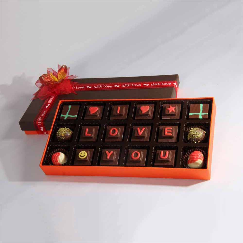 Velvet Fine Chocolates' I Love U Chocolate Box