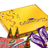 Gift Crackers with Cadbury Chocolates on Diwali