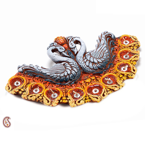 Swan Shaped Gel Filled Diya Tray
