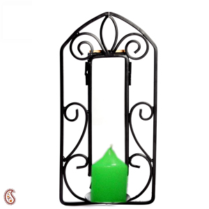 Candle with Wrought Iron Candle Stand